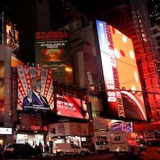 New York / Manhattan Times Square いつも煌びやかなタイムズスクエア。