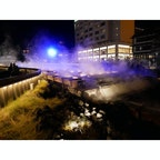 群馬 草津温泉 ライトアップの湯畑