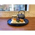 お団子セット、600円。よもぎと、みたらしと、季節のお団子。この日は、かぼちゃでした。金沢の静かなカフェにて。  #金沢 #カフェ
