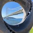 明石海峡大橋ウォーキングに参加し、橋を歩いて渡りました。 橋の下を大型タンカーが通ると、かなりの迫力です😳
