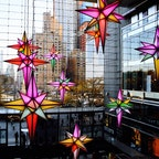 New York / Manhattan Time Warner Center コロンバスサークルにある、タイムワーナーセンターの名物的なホリディイルミネーションディスプレイ。