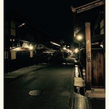 夜の高山の古い街並み…風情があっていいなぁ✨