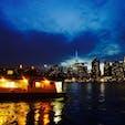 New York / Brooklyn Greenpoint ブルックリン・グリーンポイントからのマンハッタンの眺め。