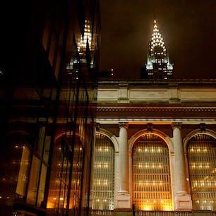 New York / Manhattan Grand Central Terminal 43丁目から眺めたグラセンとクライスラービルのスナップショット。