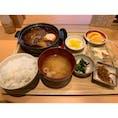 広島駅 さち福や エキエ広島店 半熟玉子と特製デミソースハンバーグ定食