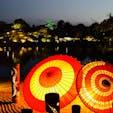 日本三大名園の岡山 後楽園 岡山城も添えて  夜間特別開園 秋の幻想庭園