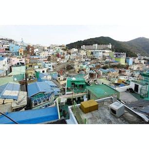 チャガルチ市場を見た後、南浦洞からタクシーで移動。 たどり着くまでに急な山道を登るので徒歩だときついかも。