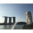 シンガポールのマーライオンとマリーナベイサンズ! 夕日といい感じにマッチしてる〜 旅のブログやっています。 プロフィールにURLありますので、良かったら遊びに来てください!