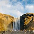 アイスランド  スコゥガフォスの滝と虹🌈