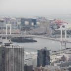 東京タワー🗼から見た、雨の日のレインボーブリッジ。やっぱり晴れた夜に見るほうが綺麗ですね。