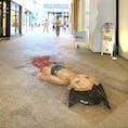 中目黒駅高架下 巨大アトム 3Dチョークアート