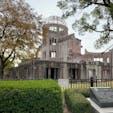 広島 原爆ドーム 今日の午後から広島でコラボワークショップを開催します。 その前に、原爆ドームへ立ち寄る。