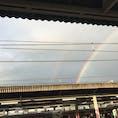 今朝、二重の虹🌈が見れました。たまに見られますね。