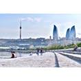 Flame tower,Azerbaidzhan🇦🇿 アゼルバイジャンは近代的な建物がたくさんありました😳