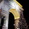 New York / Manhattan ワシントンスクエアパーク  映画『Begin Again(はじまりの歌)』や、ウィルスミスの『I Am Legend』の撮影地としても知られているワシントンスクエアパークのクリスマスツリー。巨大です。 #newyork #manhattan