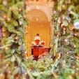 ベルギー ブリュッセル ギャルリー・サンチュベール内 クリスマスのディスプレイ