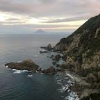 佐多岬から望む開聞岳 @鹿児島県
