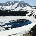 立山黒部アルペンルート みくりが池に雄山山頂が写っています