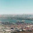 New York / Manhattan ニューアーク空港近くの空の上から見えるマンハッタン。 #newyork #manhattan