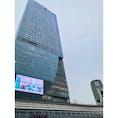 渋谷スクランブルスクエア 見上げるのに首が痛くなるくらい高いビル。