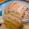 金沢で念願の蟹面をいただきました🦀  おでん高砂の蟹面は、綺麗に蟹の足が整列しています。 この時期しかいただけない品とあって皆さん注文していました♪