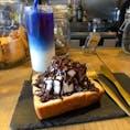 Progress 広島市内にあるカフェ、Progressでずっと飲みたかったブルーラテを飲みました。  #広島県 #広島 #Progress #ブルーラテ