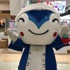 焼津のご当地キャラ、やいちゃんです。やいちゃんは、トマト🍅が好きなカツオという設定です。