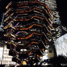 New York / Manhattan Hudson Yards, Vessel 夜のベッセル。絵に描いたような美しさです! #newyork #manhattan #hudsonyards #vessel