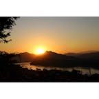 ラオス/ルアンパパーン プーシーの丘からみた夕日  #LuangPrabang #MountPhouSi