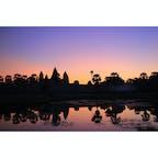 カンボジア/シェムリアップ アンコールワットのサンライズ  #AngkorWat