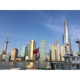 中国、上海、外灘 2018年2月