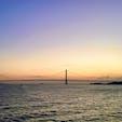 明石海峡大橋 朝焼け
