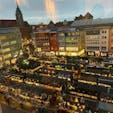 シュツットガルトクリスマスマーケット 勝手に市庁舎展望室から。