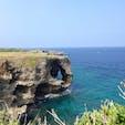 万座毛🏝🐘 象に似た岩が見える場所。 海の透明度も高く、一面海なので とても綺麗です!