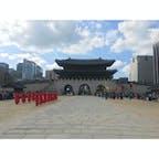 韓国、ソウル、景福宮での交代式 2019年9月