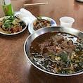 台湾での昼ご飯は牛肉麺。 桃園です。量が多くて食べきれなかった。