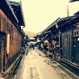 飛騨高山 #古い町並 雪が降っていてとても幻想的です