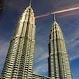 マレーシア ホテルから見えるペトロナスツインタワー