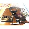 茶房 暖暖 「茶粥御膳」 茶粥と奈良漬などが楽しめる 食後はわらび餅がついてる!