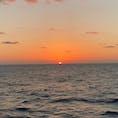 太平洋上の日の出☀️ おがさわら丸にて。