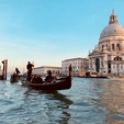ベネチアでのゴンドラ体験。晴れていて最高でした。