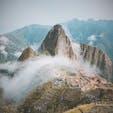 マチュピチュ遺跡 雲にかかった景色も良き