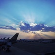 New York / Queens John F. Kennedy International Airport JFK空港での夕暮れ時のスナップ写真。 #newyork #jfk #queens