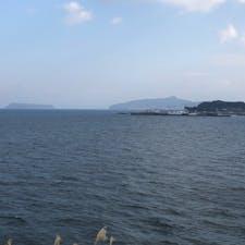道の駅指宿より指宿市方面の景色