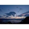 長野県の諏訪湖。 立石公園から。