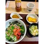 海鮮丼日の出 博多デイトス店 月が変わり、寒ブリ定食が無くなっていたので、本マグロの中トロandネギトロ丼を食す。 うまか(^^)