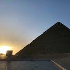 ピラミッドからの日の出🌅