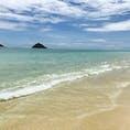 ハワイ、ラニカイビーチ🏖 綺麗すぎる✨海が好き💕