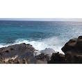 ハワイ ★ホノルル  潮吹き岩