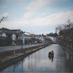 倉敷美観地区🏞✨  岡山県の観光名所。 お団子買ったりお土産を見て回るのが 楽しかったです☺️